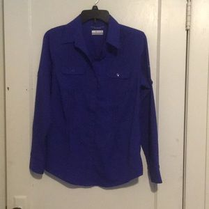 Purple Columbia Long Sleeve Button Up Size Small